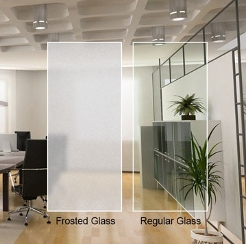 Sand Blasted Glass Acid Etched Glass, frosted glass, fingerprint free opaque white translucent