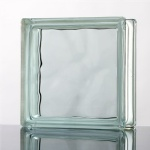 Wave glass block