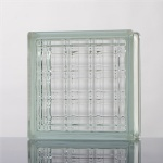 Wide crystal parallel glass block